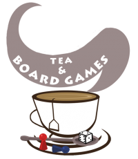 Tea and Board Games logo by the talented Imogen Anderson